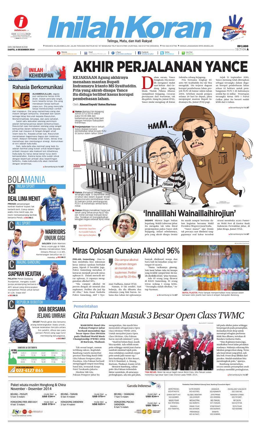 Akhir Perjalanan Yance By Inilah Media Jabar Issuu Mesin Untuk Membungkus Makanan Hand Wrapping Sat Hw450starpack