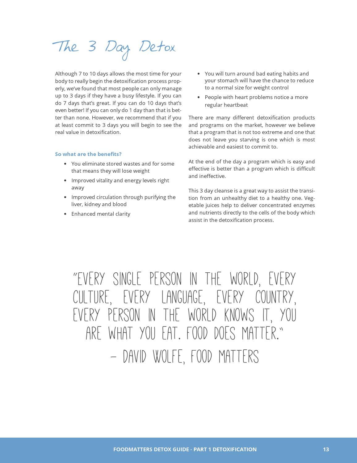 Detox Guide E-Book Preview by Food Matters - issuu