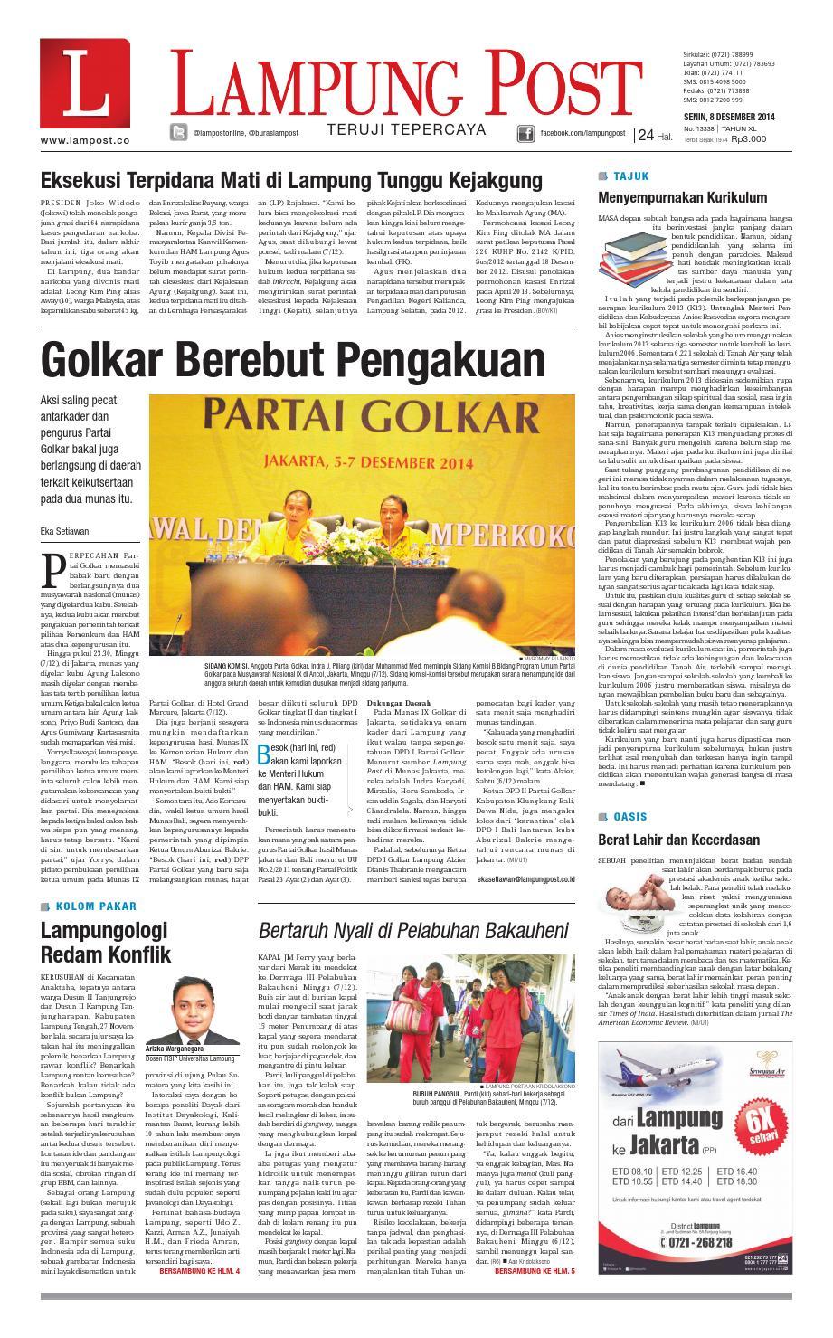Lampung Post Senin 8 Desember 2014 By Issuu Produk Ukm Bumn Box Hantaran Pengantin Bio Art