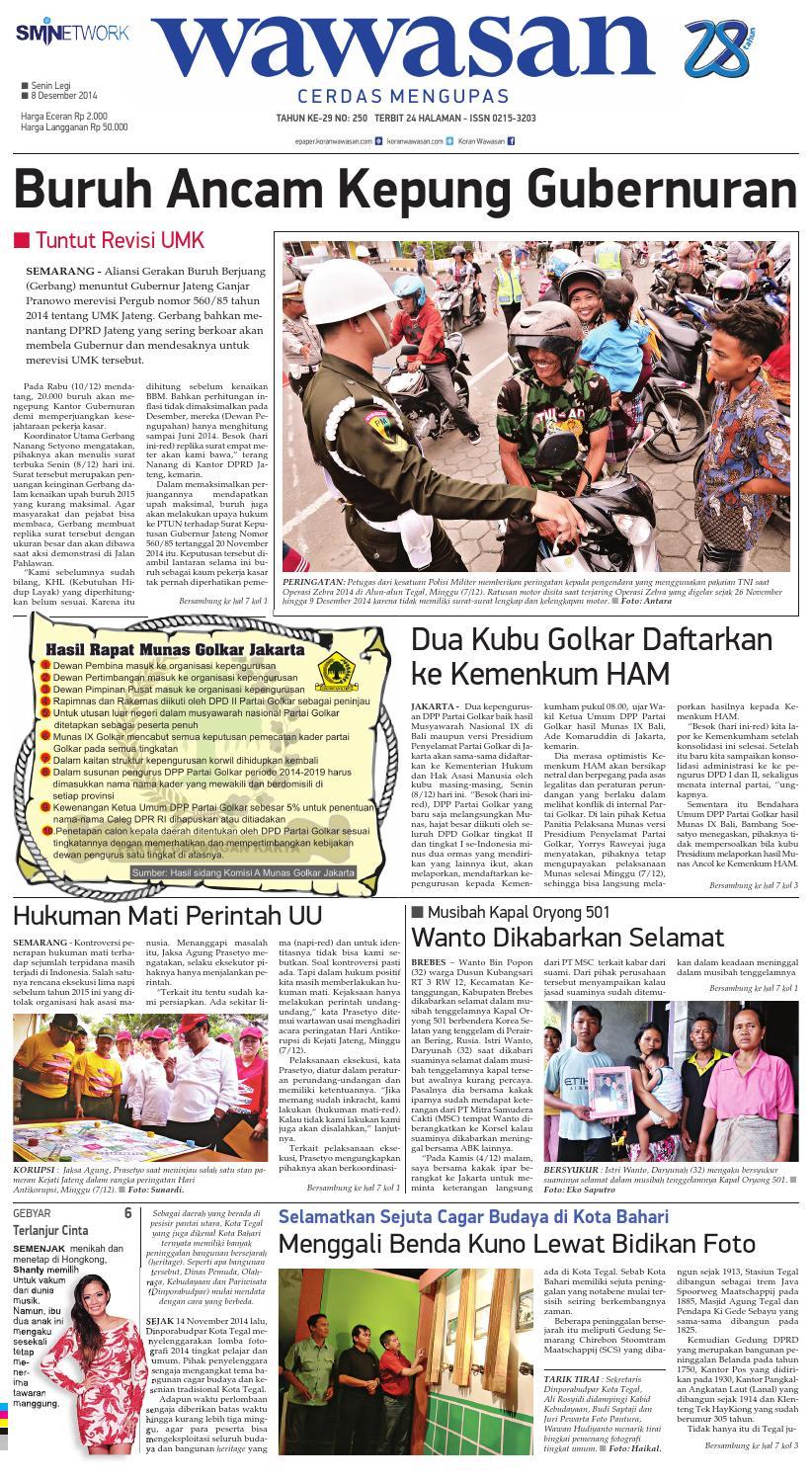 Wawasan 08 Desember 2014 By Koran Pagi Wawasan Issuu
