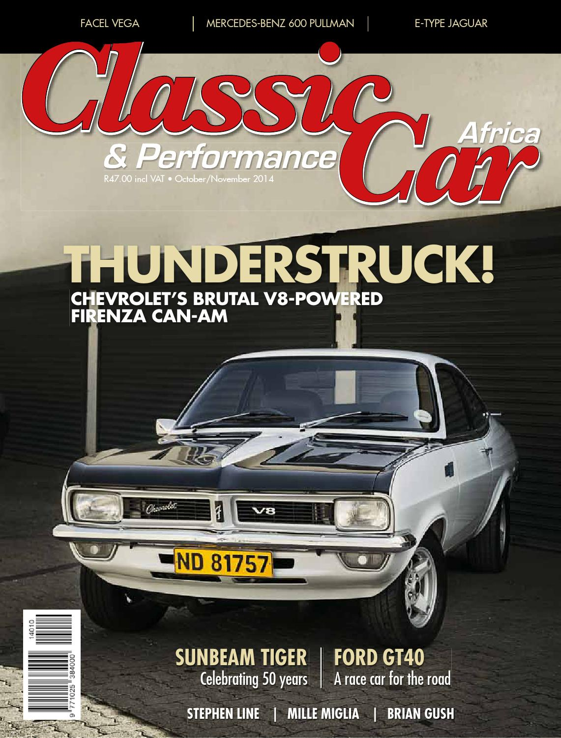 Classic performance car africa october november 2014