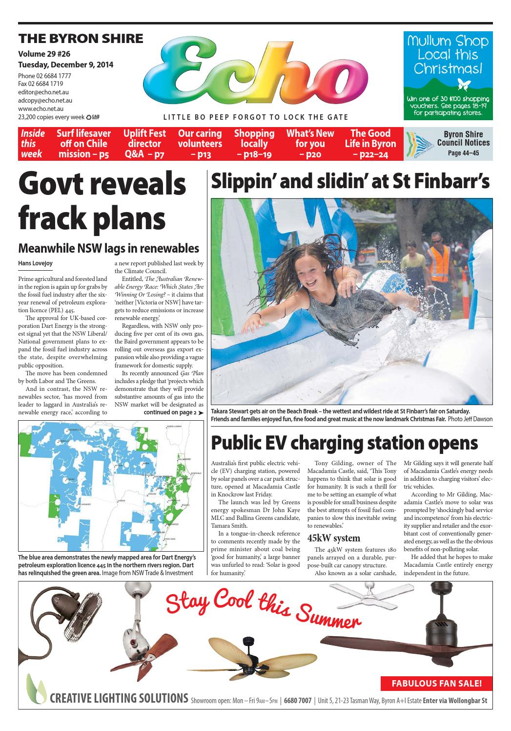 Byron Shire Echo – Issue 29.26 – 09/12/2014 by Echo Publications - issuu