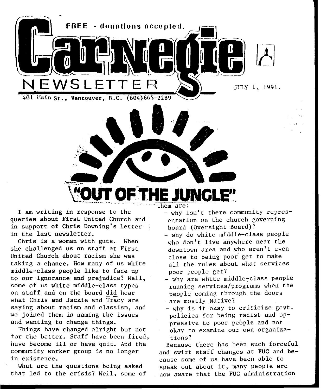 July 1, 1991, carnegie newsletter by Carnegie Newsletter - issuu