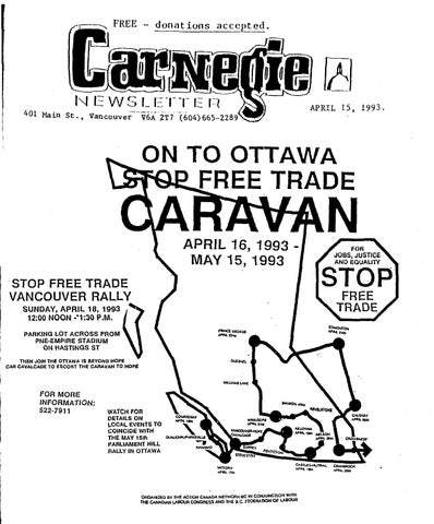 April 15 1993 Carnegie Newsletter By Carnegie Newsletter