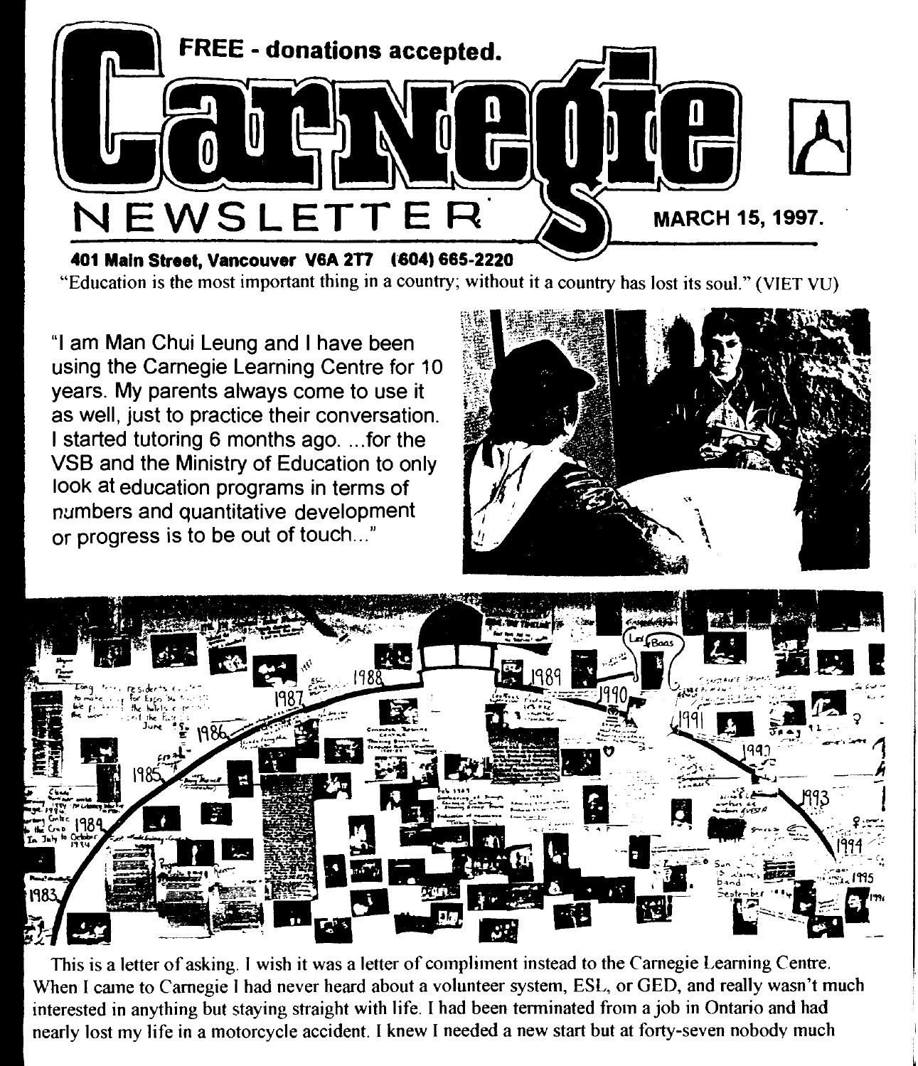 March 15, 1997, carnegie newsletter by Carnegie Newsletter - issuu