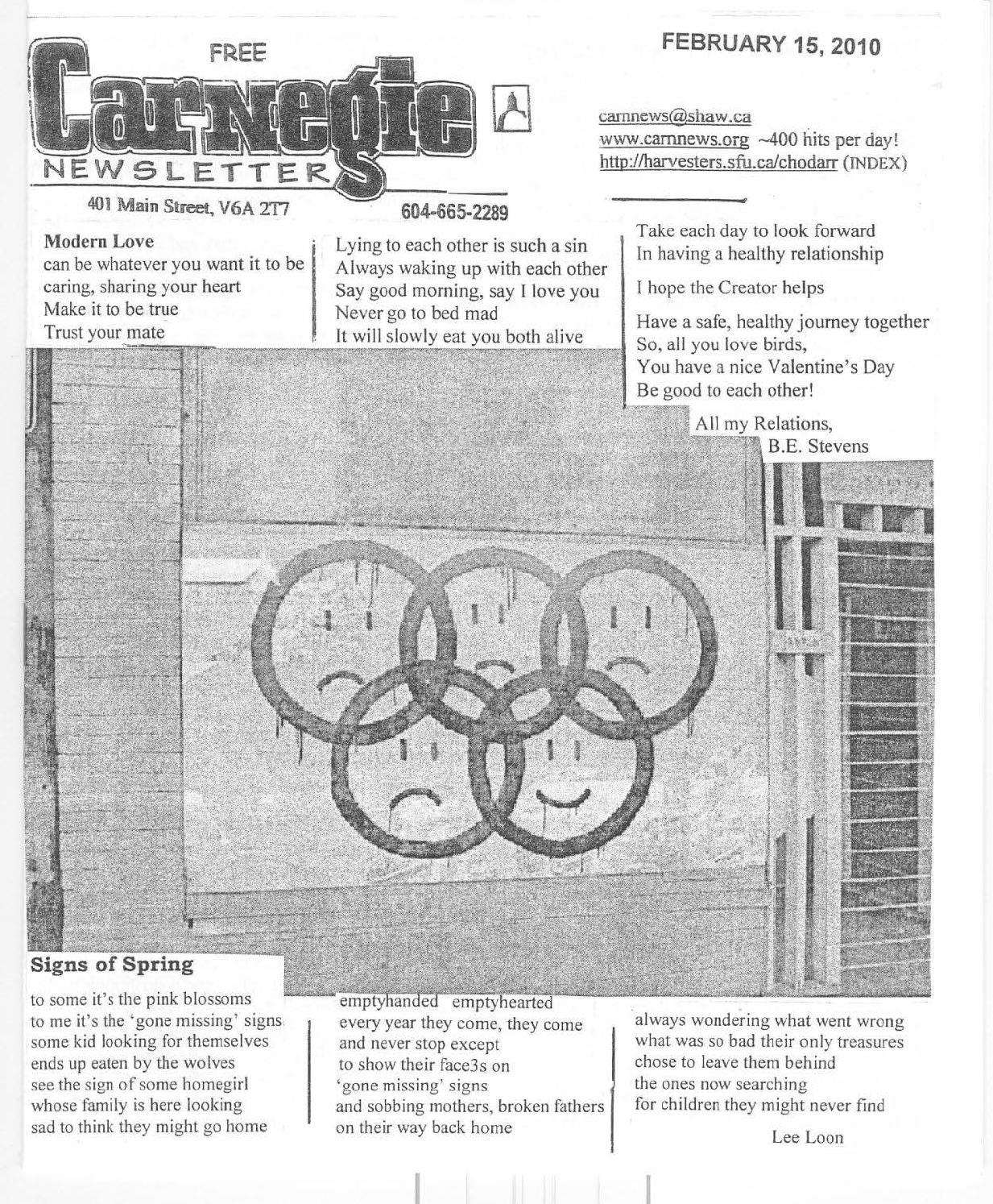 February 15, 2010, carnegie newsletter by Carnegie Newsletter - issuu