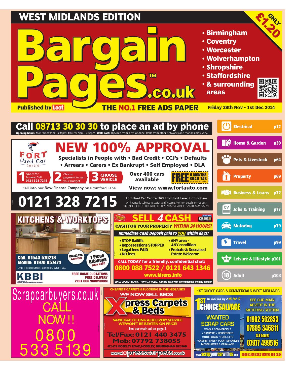 Bargain pages west midlands november 28th 2014 by loot for Household bargaining and the design of couples income taxation