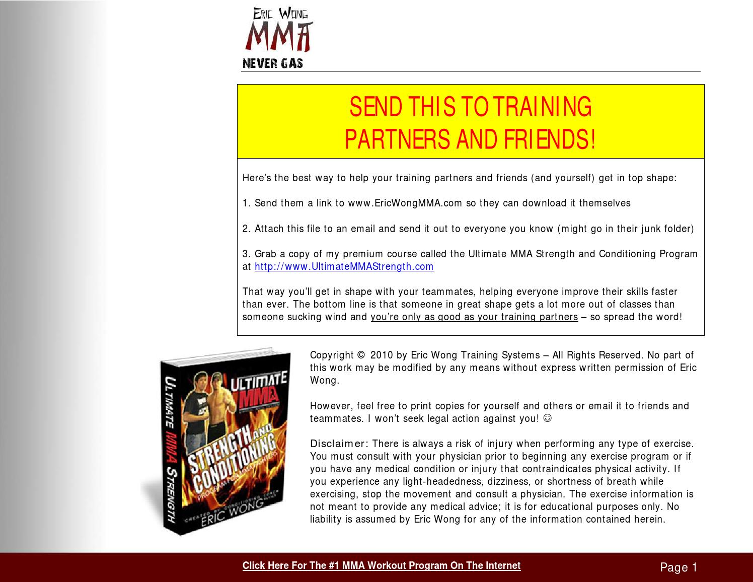 MMA Training Workouts - Secrets From an Underground MMA