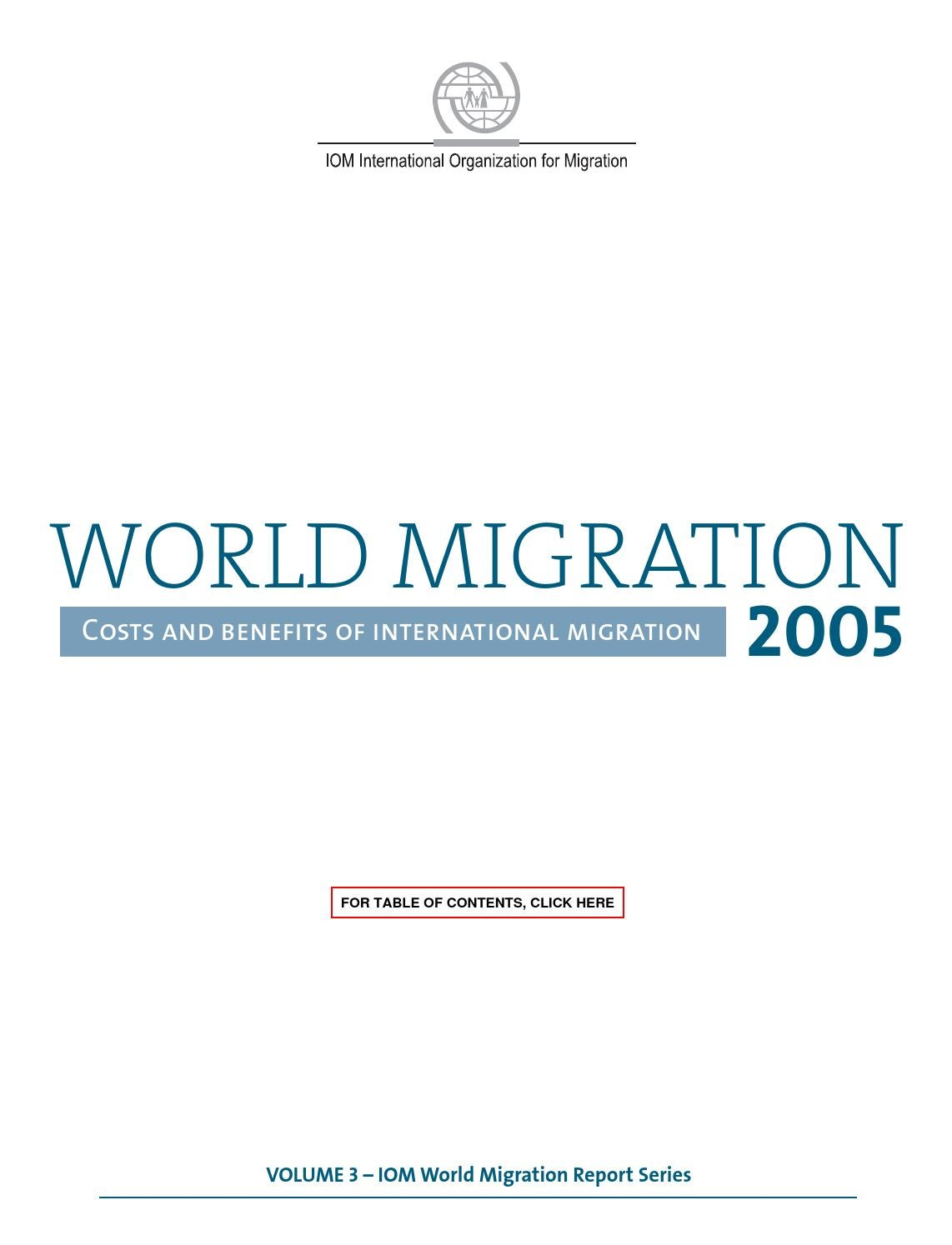 World Migration Report 2005 by International Organization for Migration  (IOM) - issuu