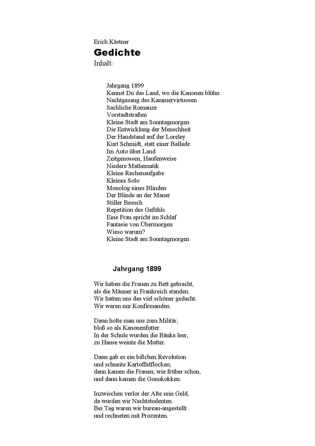 Alte bekannte gedichte