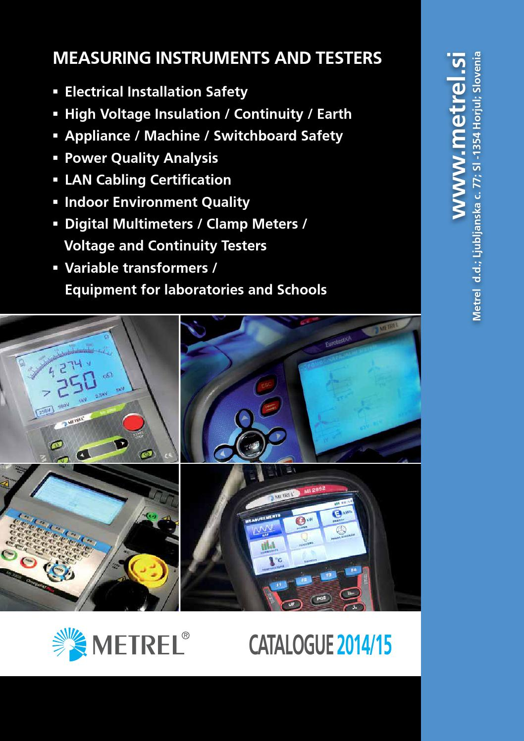 Metrel Catalogue By Smp Solutions Issuu Insulation Tester Constant 5kv