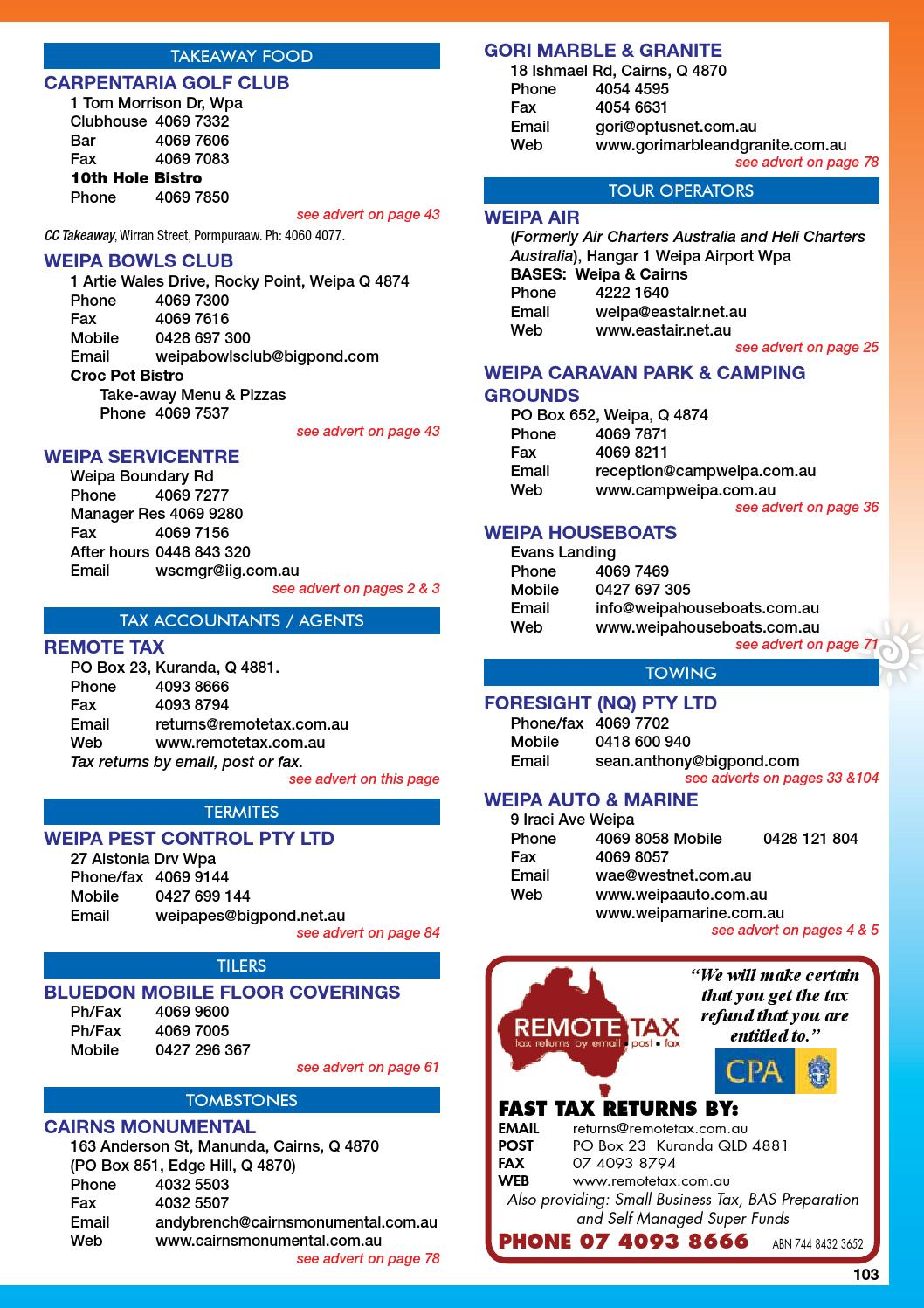 2014 wb phone book web by Regional and Remote Newspapers - issuu