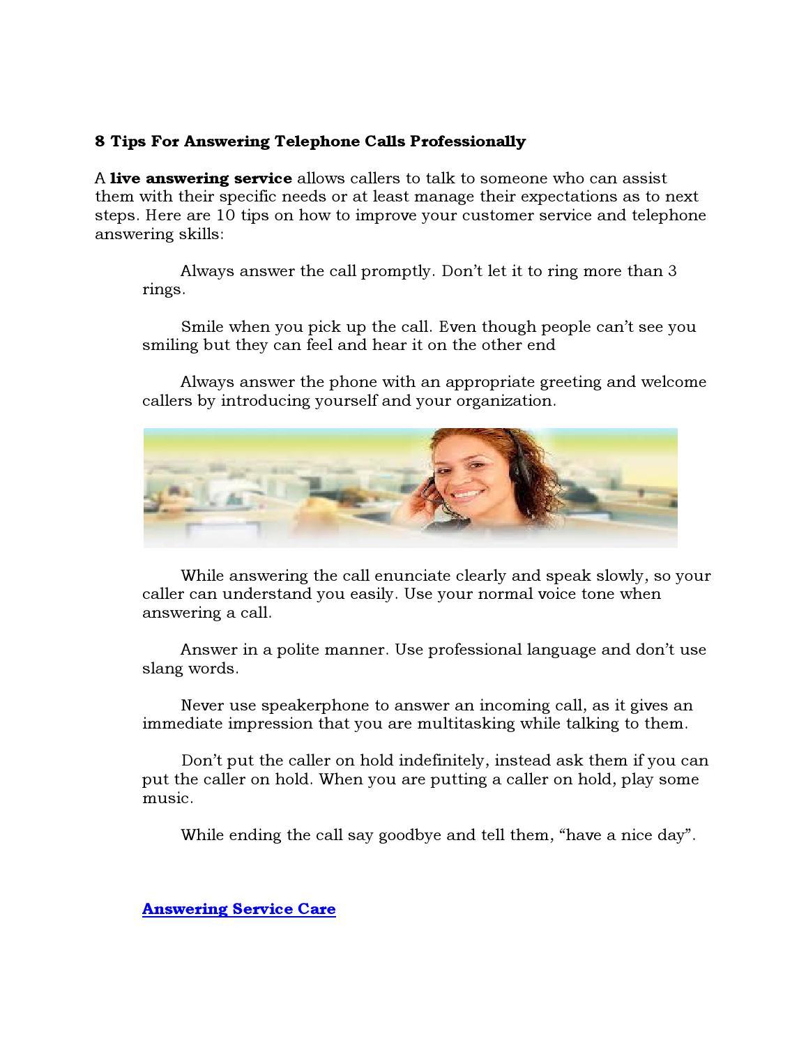 How to speak: rings or calls