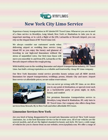 New York City Limo Service By Nynylimos Issuu