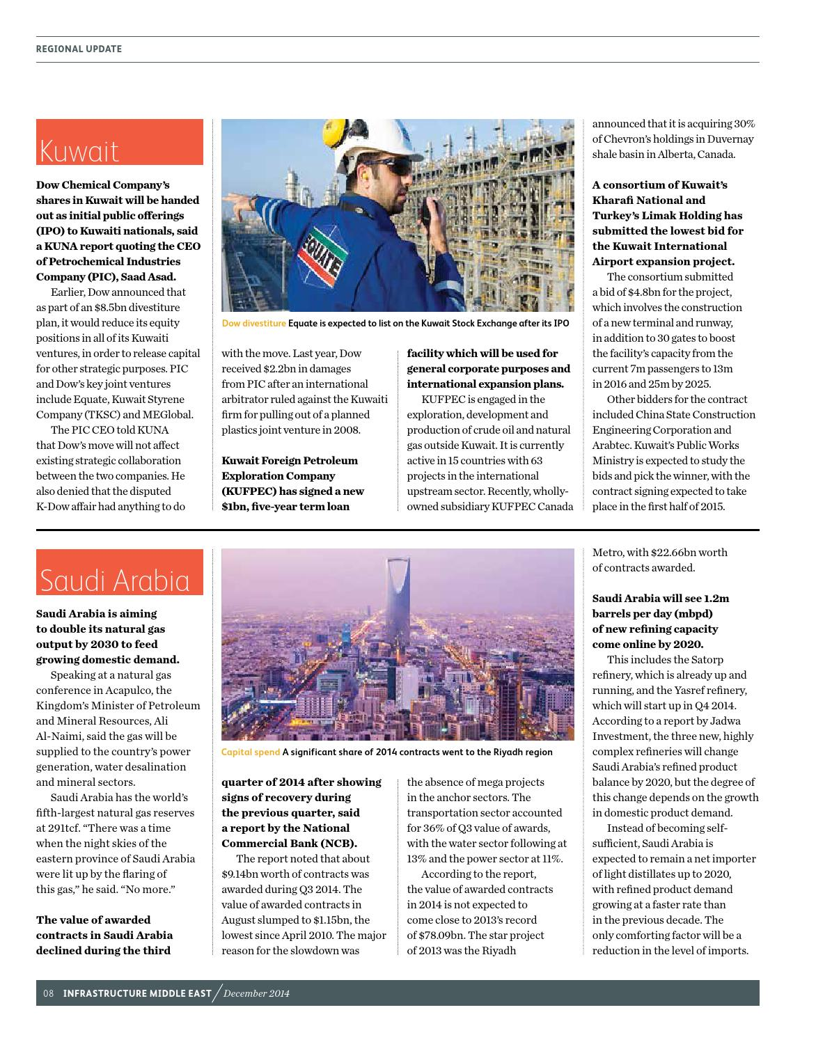 Infrastructure Middle East December 2014 by Infrastructure ME - issuu