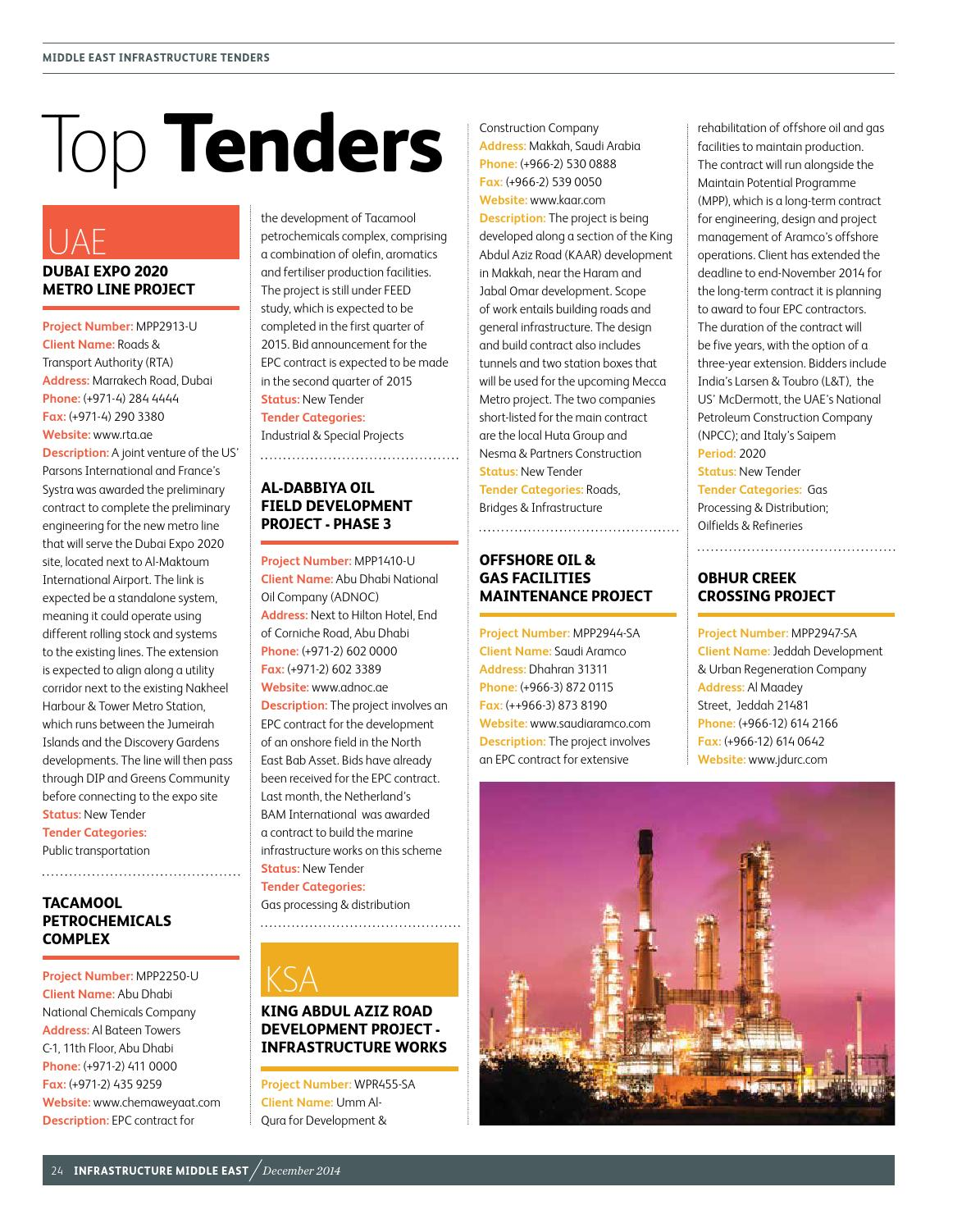 Infrastructure Middle East December 2014 by Infrastructure