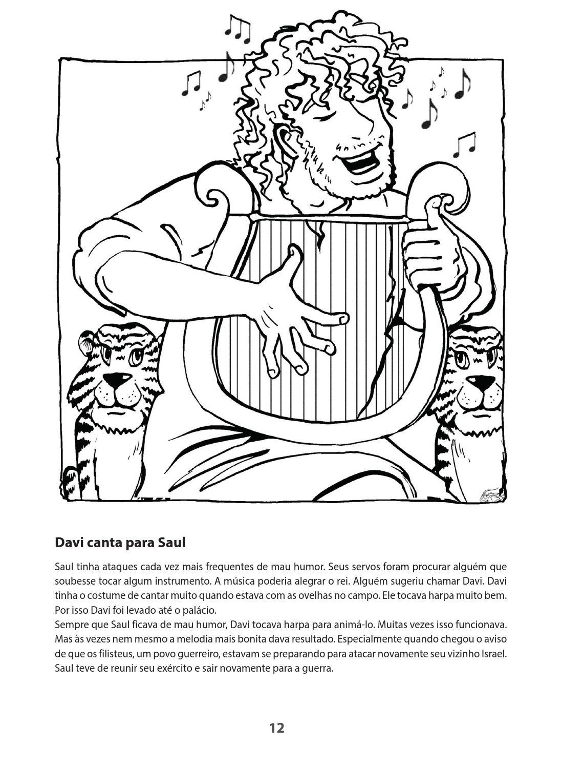 A Biblia Para Colorir Livro 4 Samuel Davi Salomao Elias