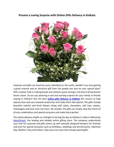 Page 1 Present A Loving Surprise With Online Gifts Delivery In Kolkata