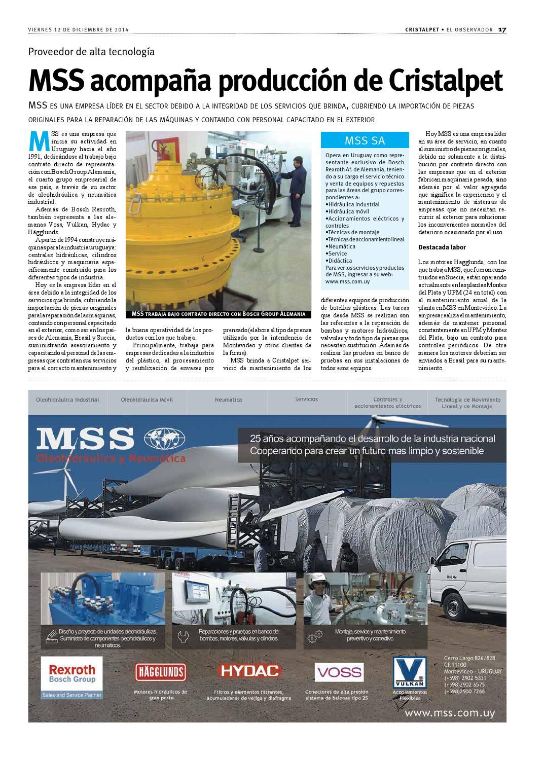 505eab73b Suplemento Cristalpet 2014 by Portal El Observador - issuu
