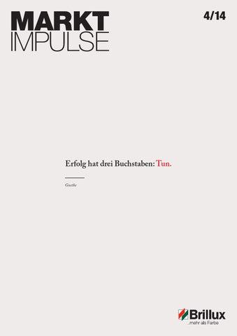 Marktimpulse 04/2014 by Brillux - issuu