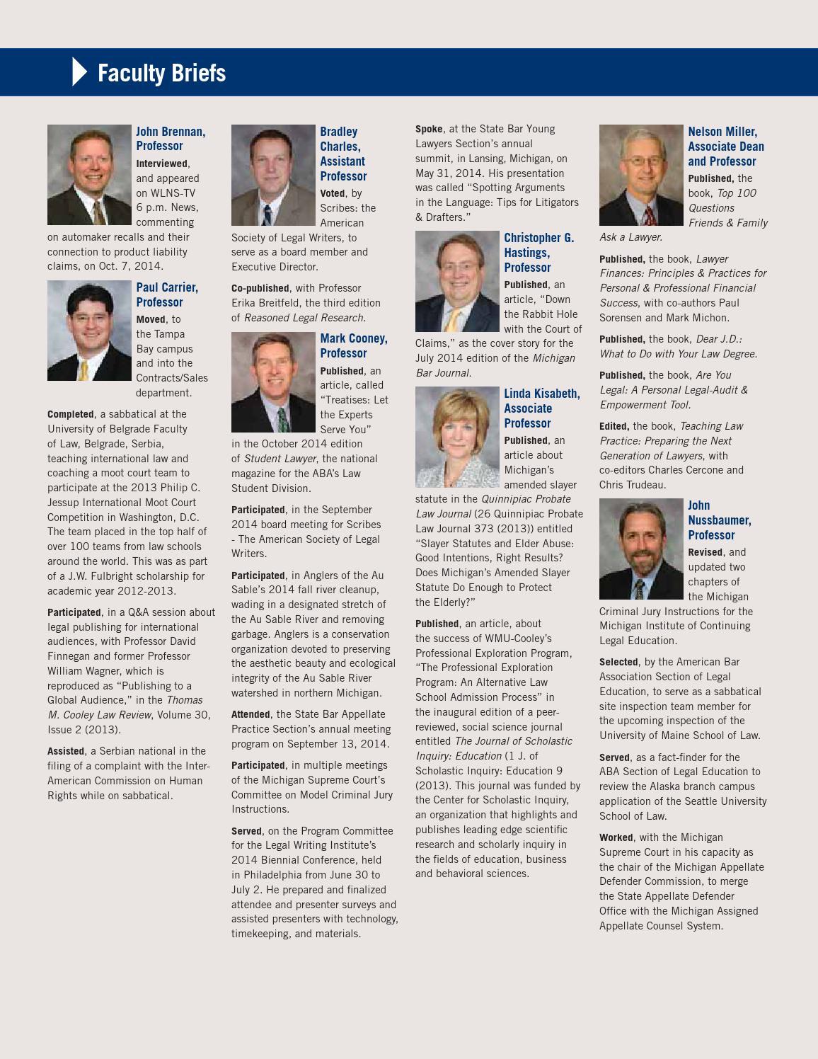 Winter 2014 Benchmark Alumni Magazine By Wmu Cooley Law School Issuu