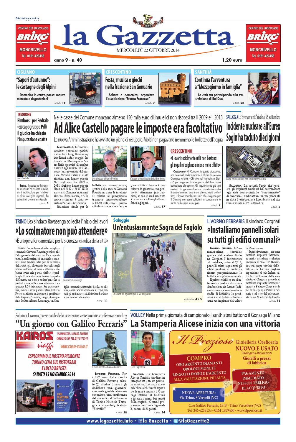la Gazzetta 22 ottobre 2014 by La Gazzetta - issuu a47960db7a1d5