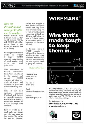 FCANZ Wired September 2014 by Fencing Contractors Association New ...