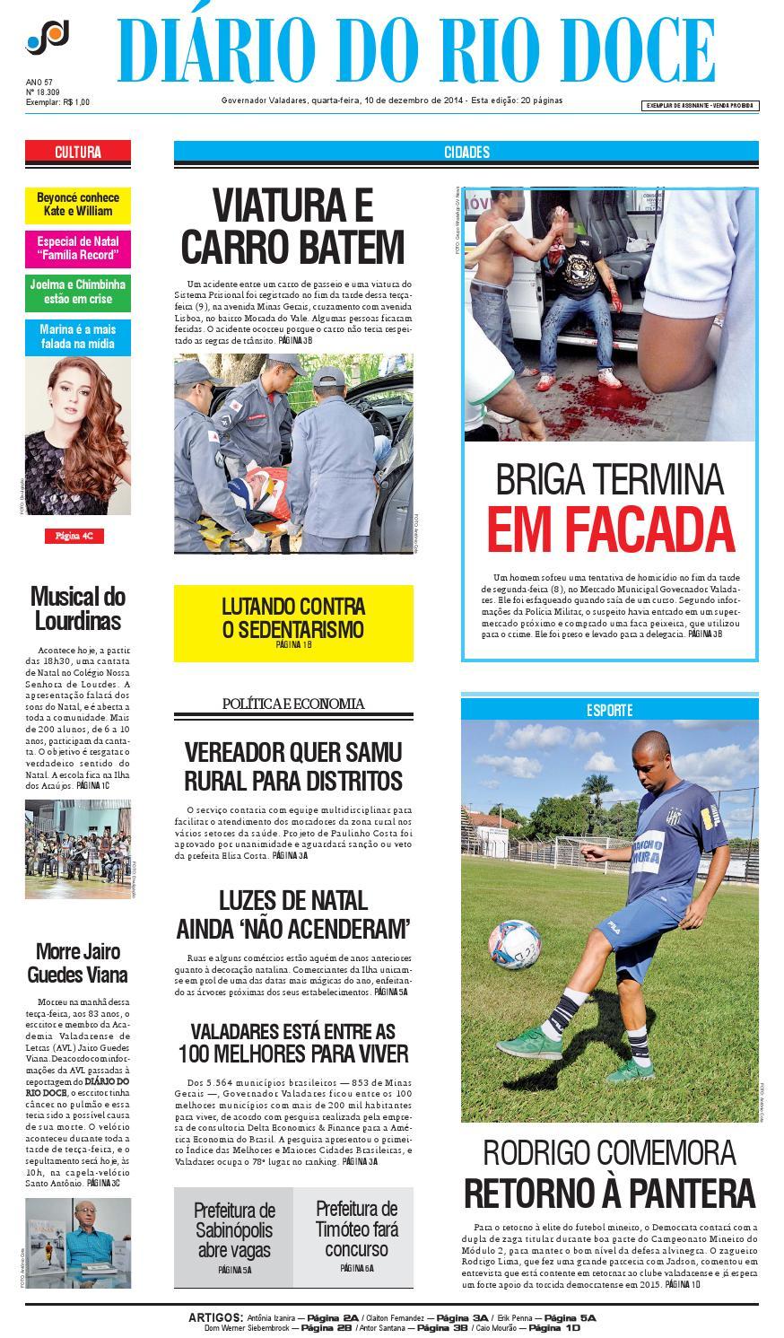 9fe4690ae2 Diário do Rio Doce - Edição de 10 12 2014 by Diário do Rio Doce - issuu