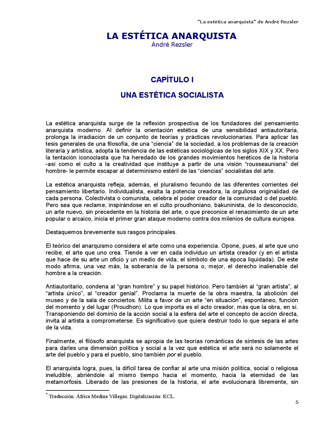 La estética anarquista - André Rezsler by Kclibertaria - issuu