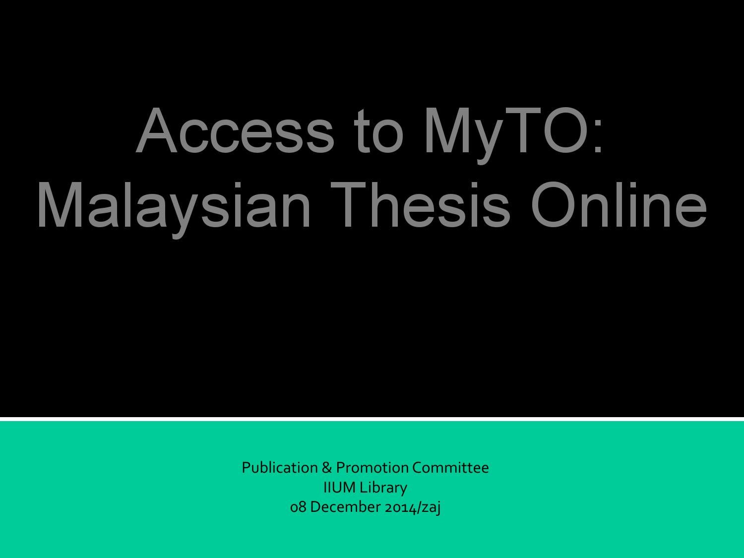 myto malaysian thesis online