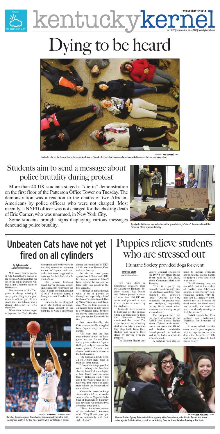 Kernel In Print — December 10, 2014 by Kentucky Kernel - issuu