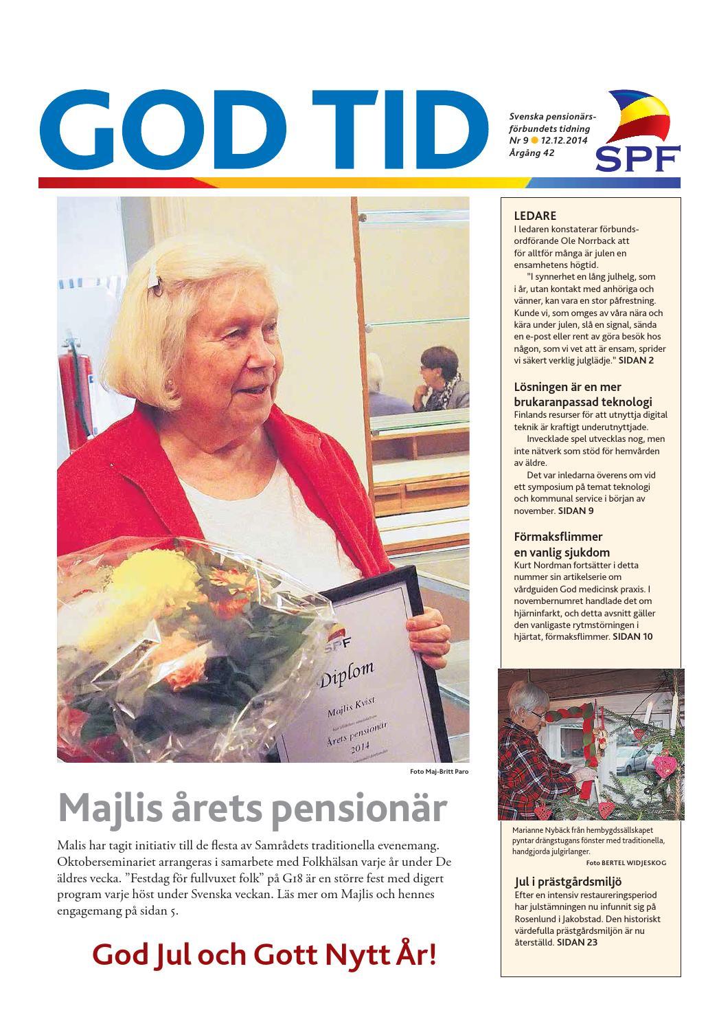 God Tid 9 2014 by Svenska pensionärsförbundet 310f4b5deca2c