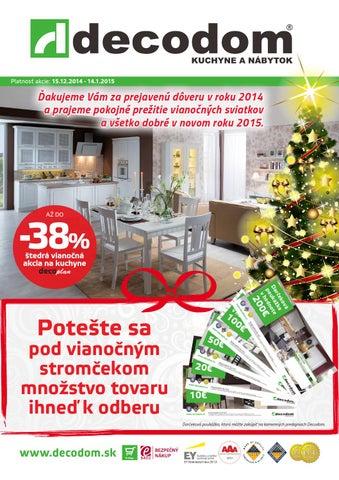 eeb1a0b6efe6 Akcia december 2014 Decodom by Decodom - Slovenský výrobca nábytku ...