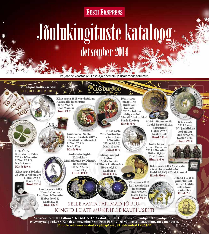 fd5e22c1e19 JÕULUKINGITUSTE KATALOOG 2014 by AS Ekspress Meedia - issuu