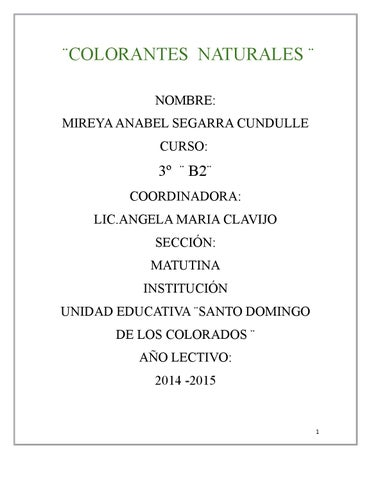 Colorantes naturales by Mireya Segarra - issuu