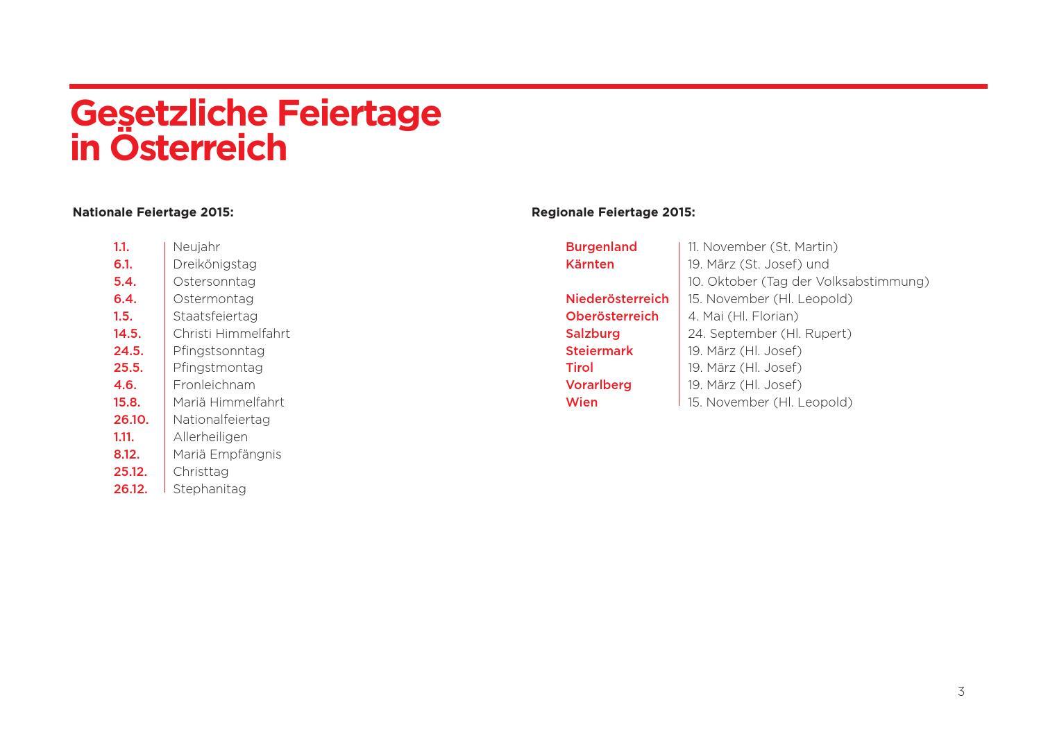 Fact Sheet 10 Interkulturelle Feiertage In österreich 2015 By