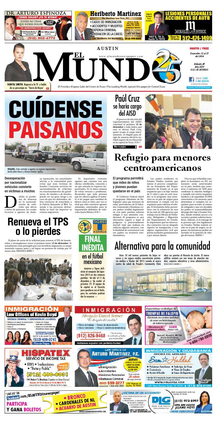 El Mundo Newspaper Austin 49 by El Mundo Newspaper - issuu
