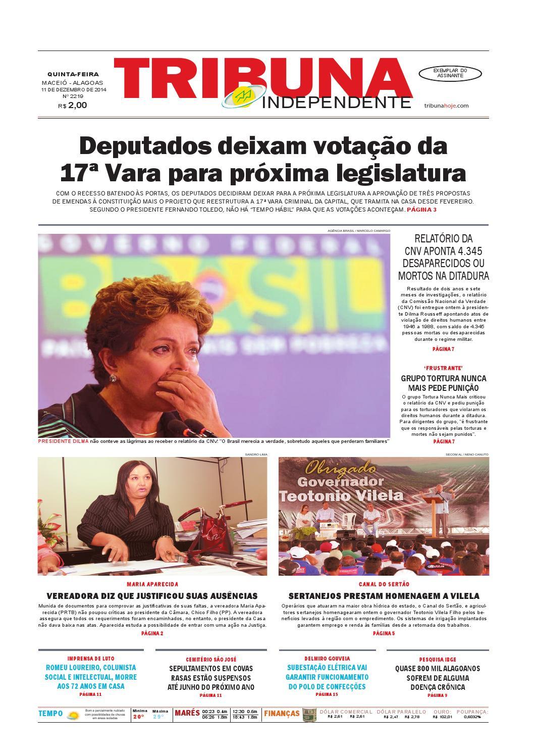 Edição número 2219 - 11 de dezembro de 2014 by Tribuna Hoje - issuu e74391faafc