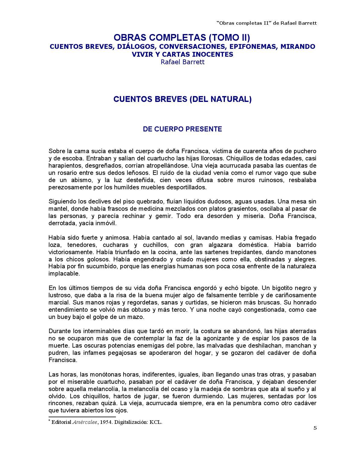 Obras completas II - Rafael Barrett by Kclibertaria - issuu