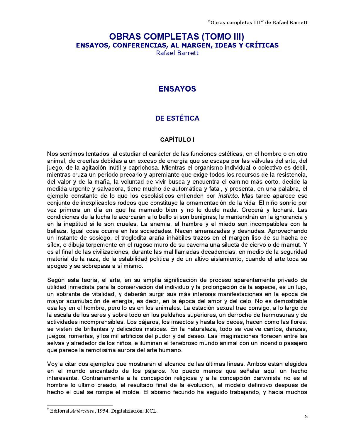 Obras completas III - Rafael Barrett by Kclibertaria - issuu