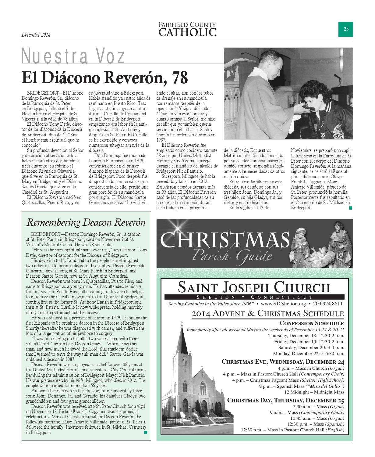 Fairfield County Catholic - December 2014 by The Diocese of