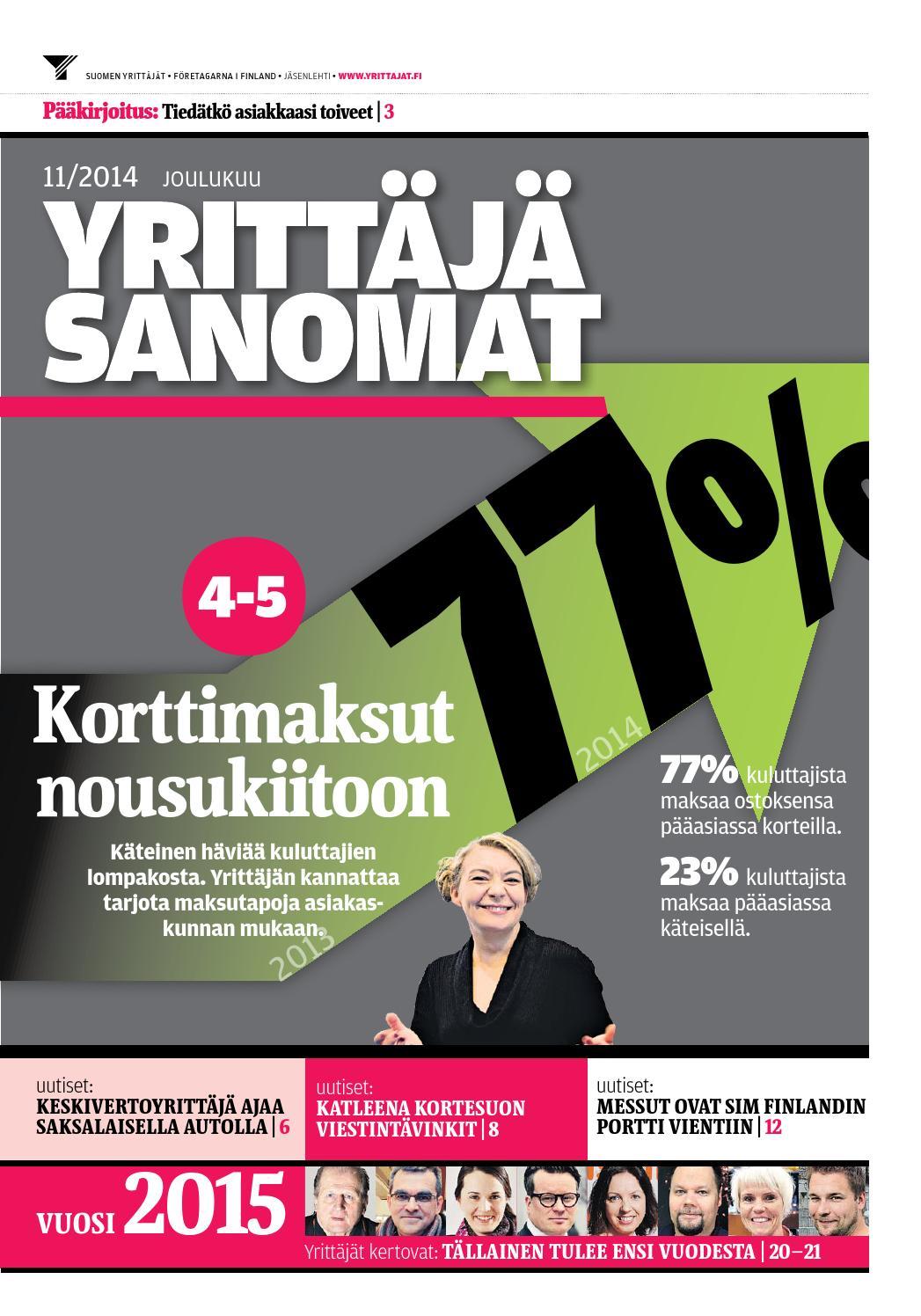 Yrittäjäsanomat 11 2014 by Suomen Yrittäjät - issuu 6b09ca4a8f