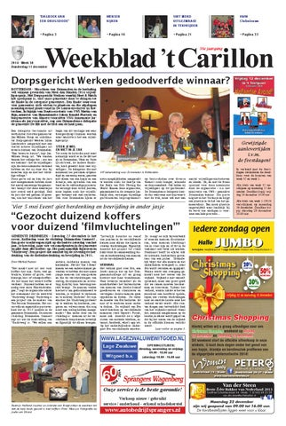2f7c0be496e Weekblad 't Carillon 11-12-2014 by Uitgeverij Em de Jong - issuu