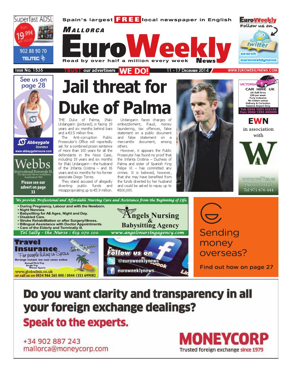 Euro Weekly News Mallorca 11 17 December 2014 Issue 1536 By  # Muebles Pose Mato