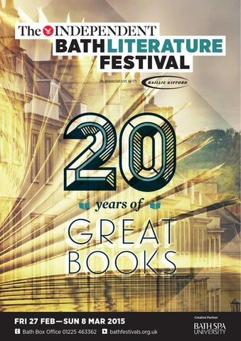 The independent bath literature festival 2015 by bath festivals issuu page 1 fandeluxe Choice Image