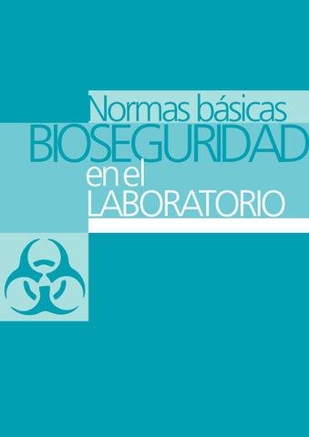 Normas Básicas Bioseguridad en el Laboratorio by Hugo Jara - issuu 97459b6321