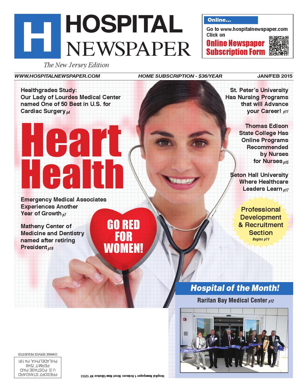 Healthgrades 50 Best Hospitals 2016: Hospital Newspaper New Jersey Jan/Feb 2015 Ebook By