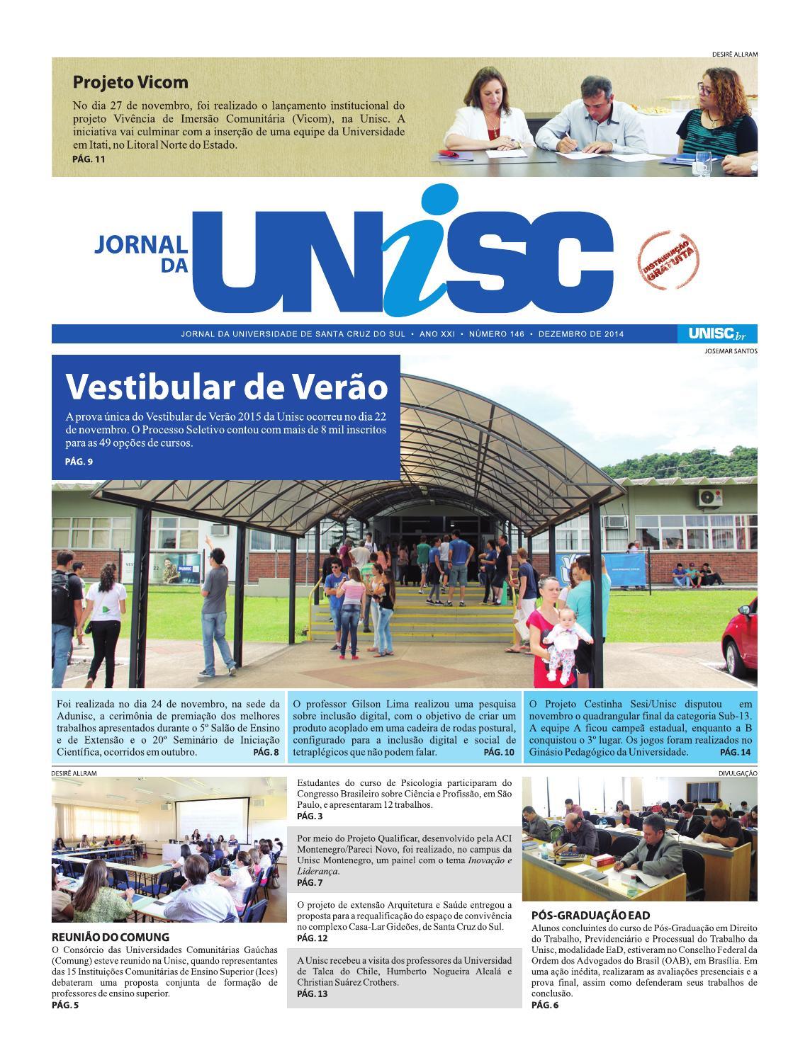 Jornal da Unisc 146 by UNISC Santa Cruz do Sul - issuu f6923fd66874b