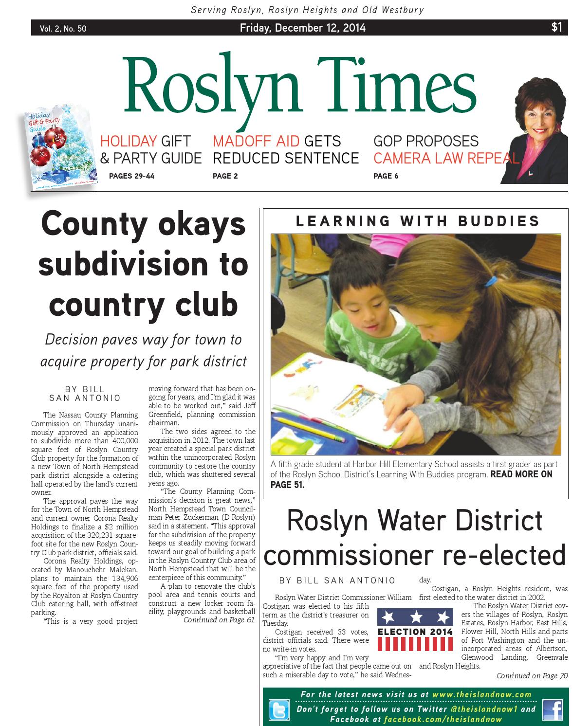 Roslyn Times 12.11.14 by The Island Now - issuu