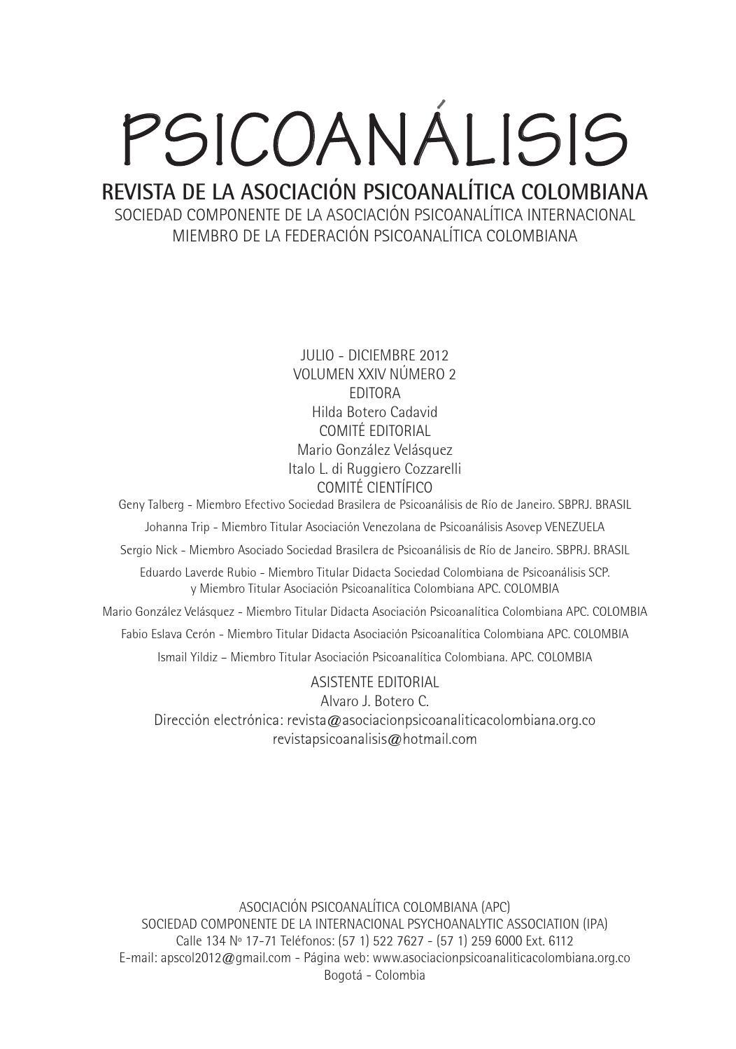 Psicoanálisis Volumen Xxiv N 2 By Harry Haller Issuu